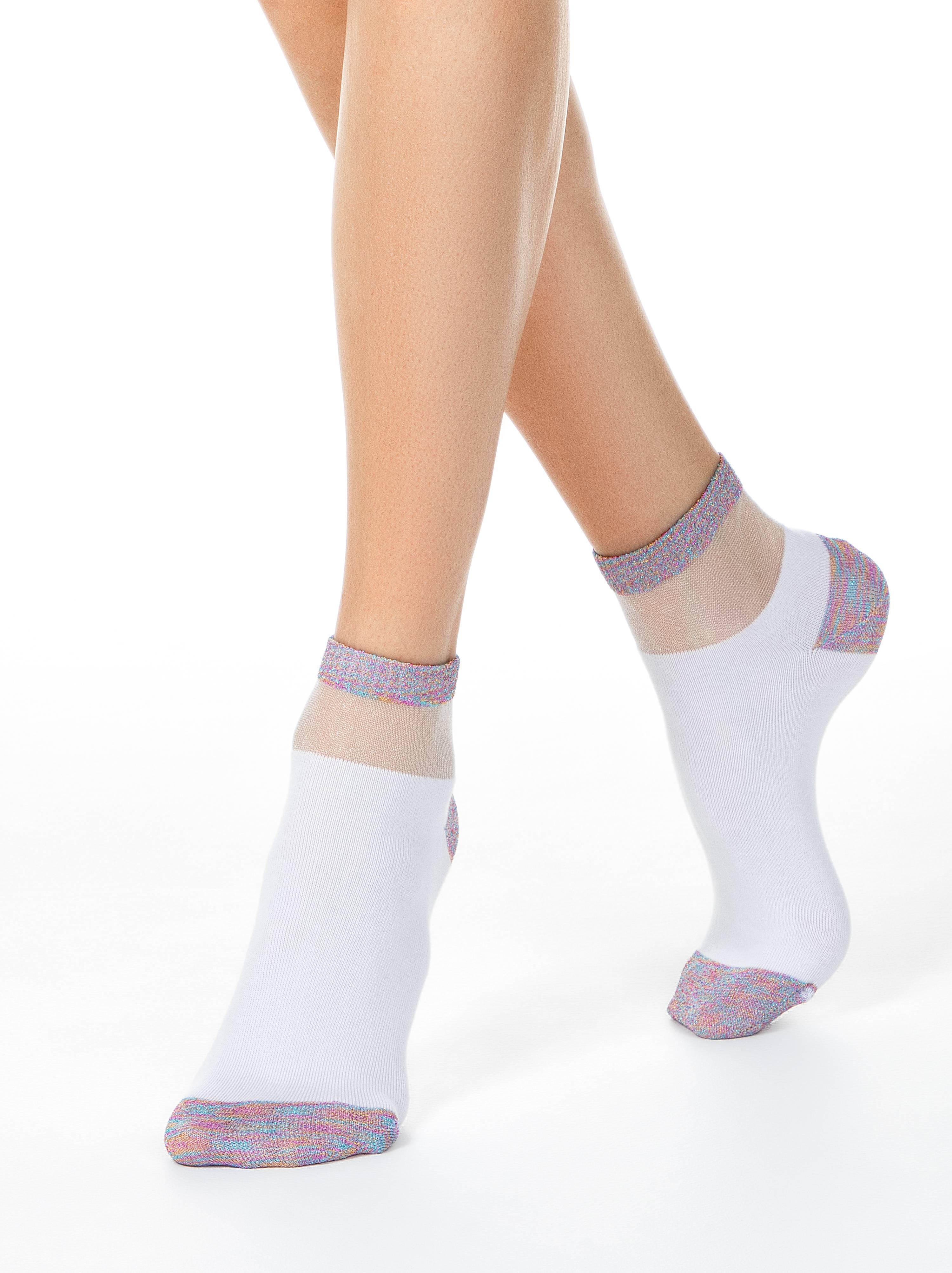 Носки женские ⭐️ Короткие носки ACTIVE с люрексом ⭐️