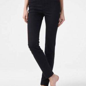 Брюки джинсовые ⭐️ Моделирующие джинсы skinny Premium Stay Black с высокой посадкой CON-185 Lycra® ⭐️