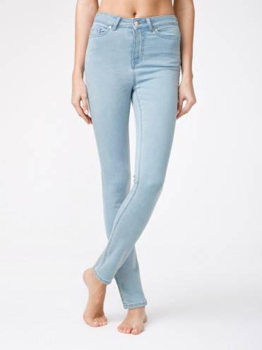 Брюки джинсовые ⭐️ Eco-friendly джинсы зауженного кроя с высокой посадкой CON-115 ⭐️