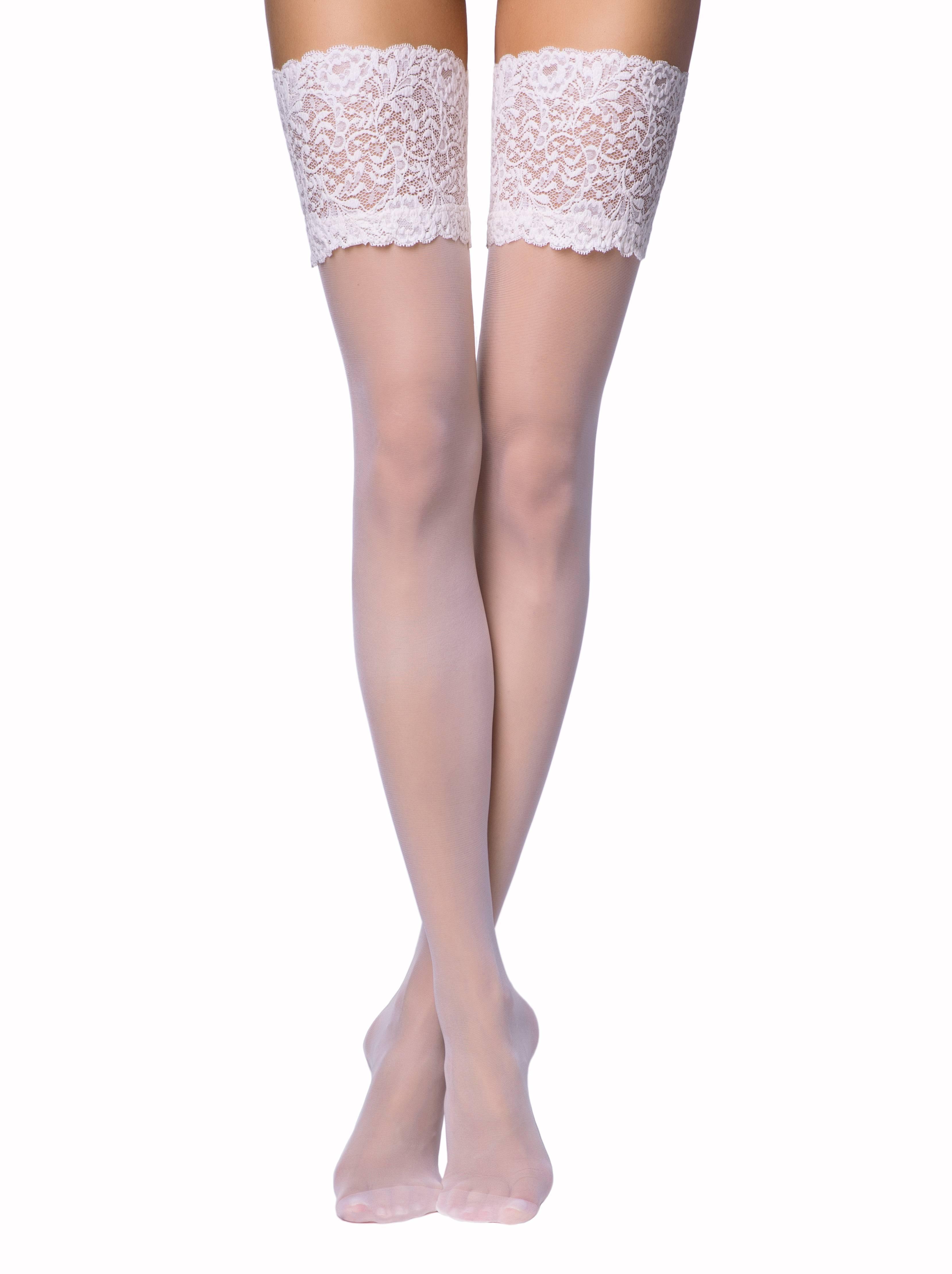 Чулки женские ⭐️ Свадебные чулки с ажурной резинкой AMORE ⭐️