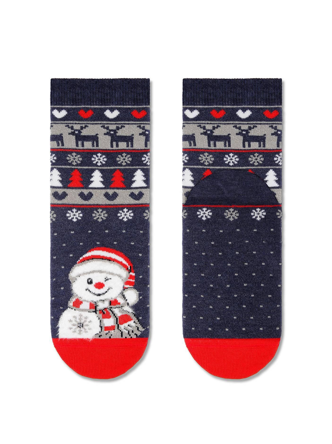 """Носки детские ⭐️ Новогодние носки """"Снеговик"""" с махровой стопой"""