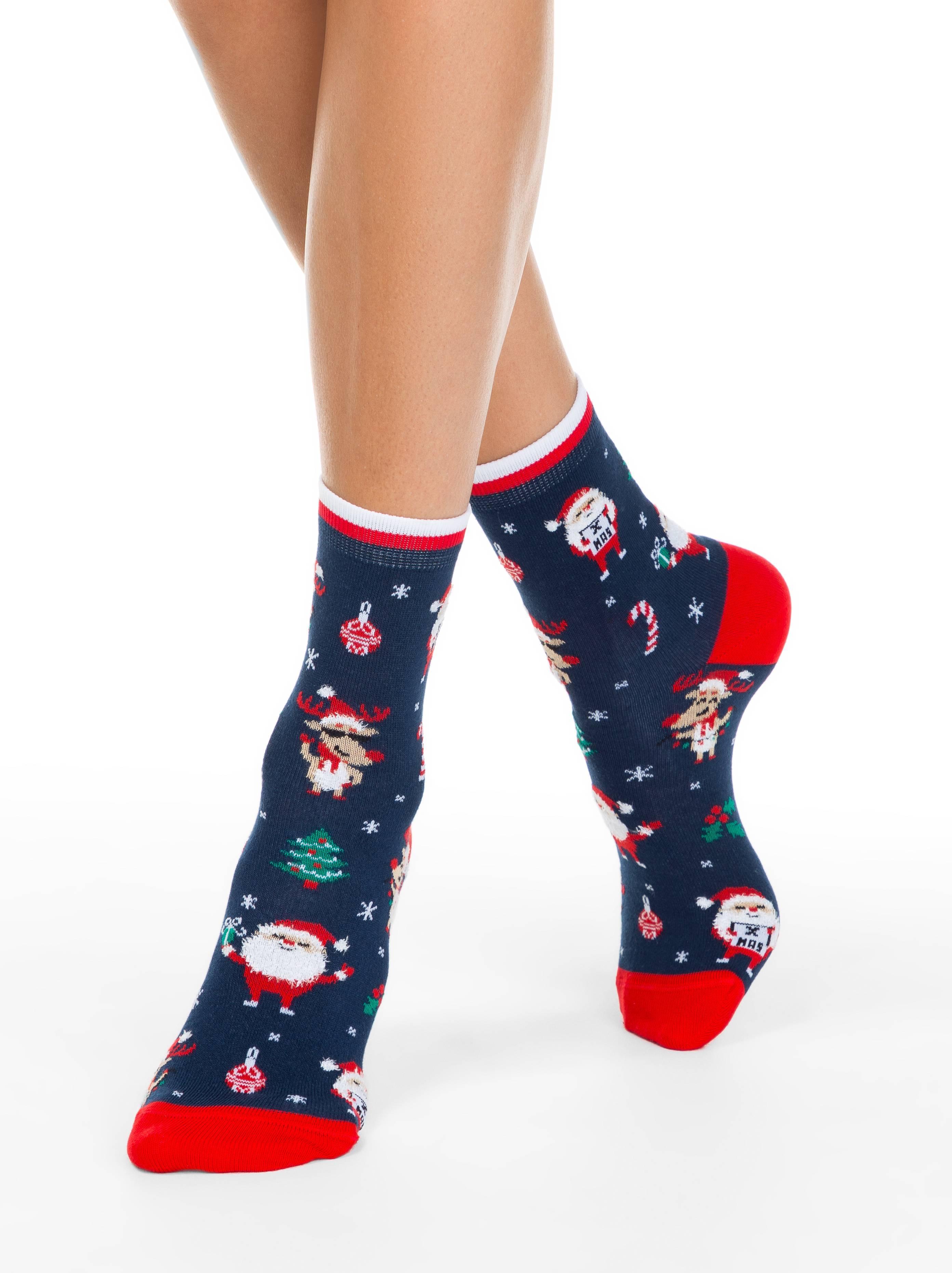Носки женские ⭐️ Женские новогодние носки с пушистой нитью «Holiday» ⭐️