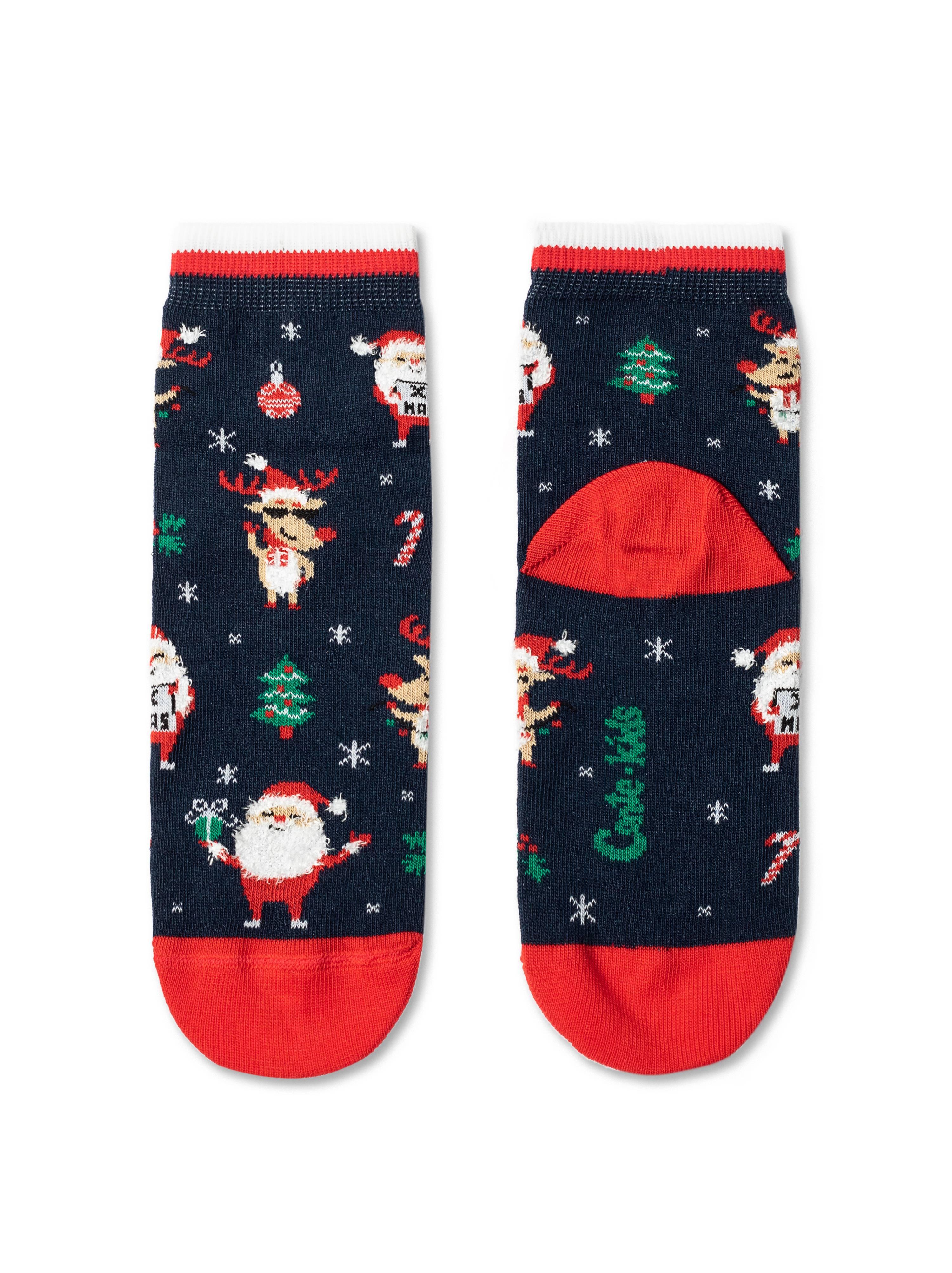 Носки детские ⭐️ Детские новогодние носки с пушистой нитью «Holiday» ⭐️