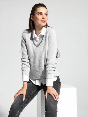 """Джемпер жен. ⭐️ """"Oversize"""" пуловер из итальянской пряжи с кашемиром LDK 066 ⭐️"""