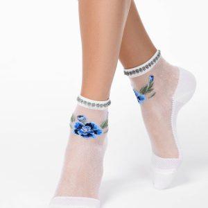 """Носки женские ⭐️ Модные носки FANTASY с имитацией вышивки и """"пикотом"""" ⭐️"""