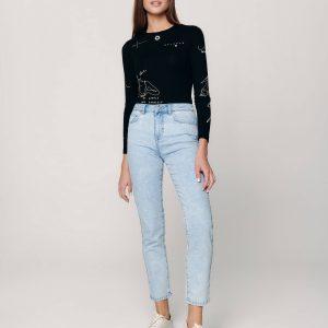 Брюки джинсовые ⭐️ Джинсы CON-339 straight leg c высокой посадкой ⭐️