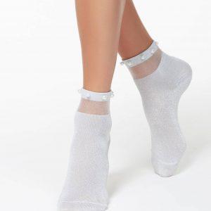 Носки женские ⭐️ Блестящие носки FANTASY с бусинками ⭐️