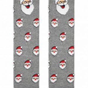 """Носки мужские ⭐️ Мужские новогодние носки """"Санта-Клаус"""" с пушистой нитью и пикотом ⭐️"""