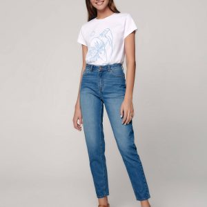 Брюки джинсовые ⭐️ Eco-friendly джинсы Mom Fit CON-354 с высокой посадкой ⭐️