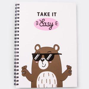 Блокнот с медведем в очках Mark Formelle
