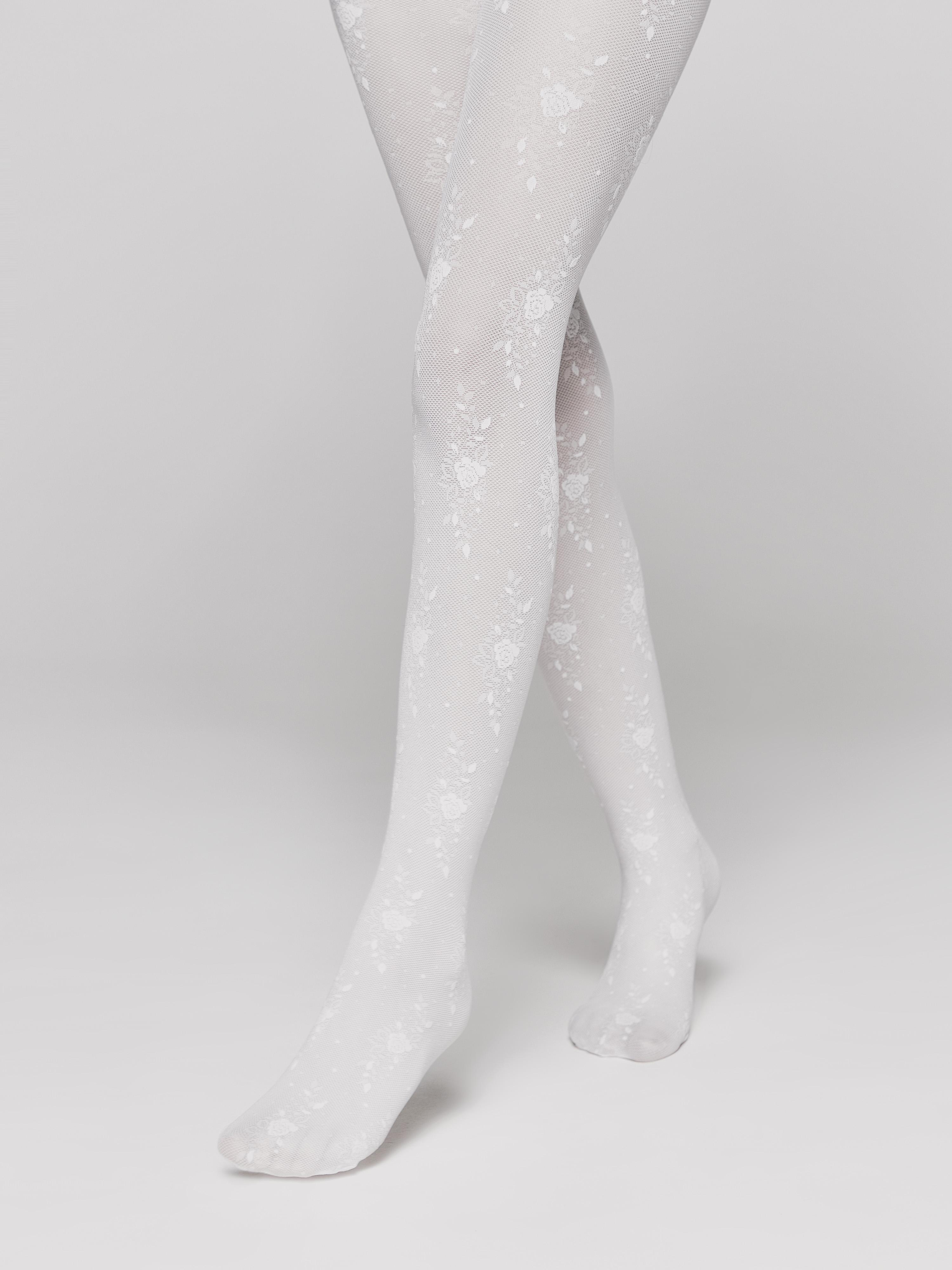 Колготки дет. нарядные ⭐️ Тонкие эластичные колготки с цветочным рисунком SOFIA ⭐️