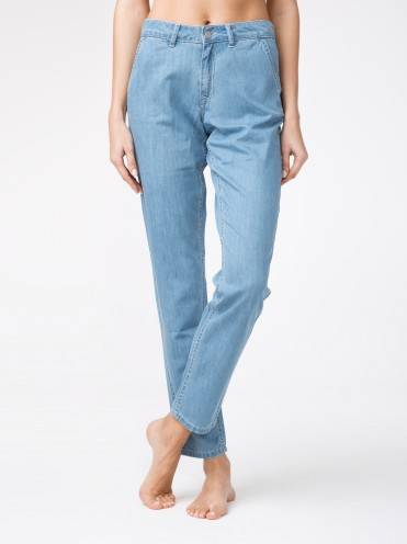 Брюки джинсовые ⭐️ Легкие джинсовые eco-friendly брюки CON-140 ⭐️