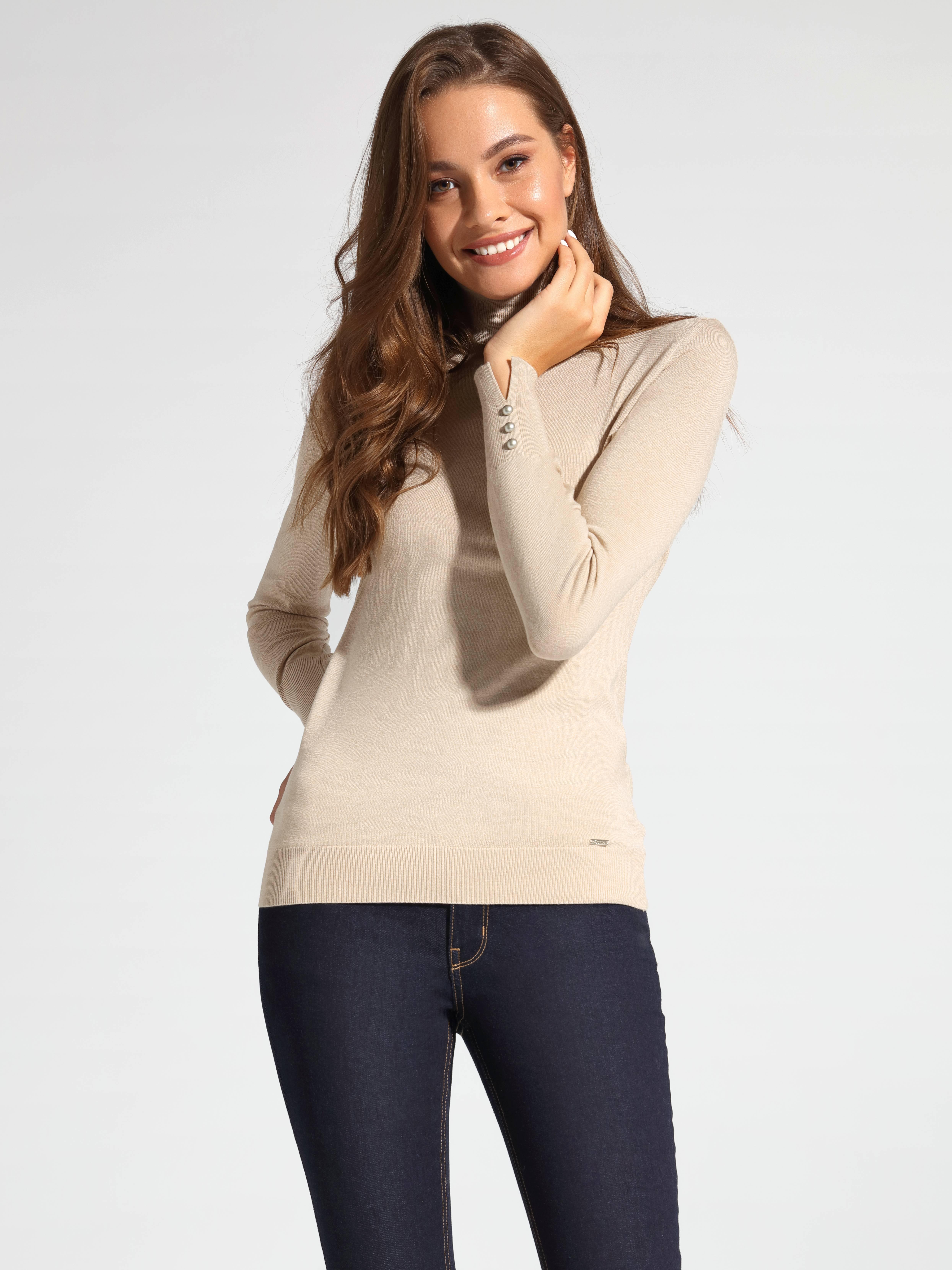 Джемпер жен. ⭐️ Вязаный свитер из итальянской пряжи с вискозой премиального качества LDK 055 ⭐️