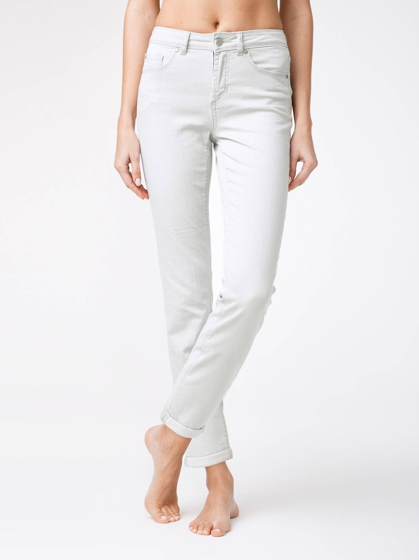 Брюки джинсовые ⭐️ Укороченные eco-friendly джинсы с манжетами CON-129 ⭐️