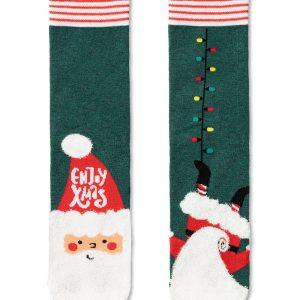 Носки мужские ⭐️ Мужские новогодние носки с пушистой нитью «Enjoy Xmas» ⭐️