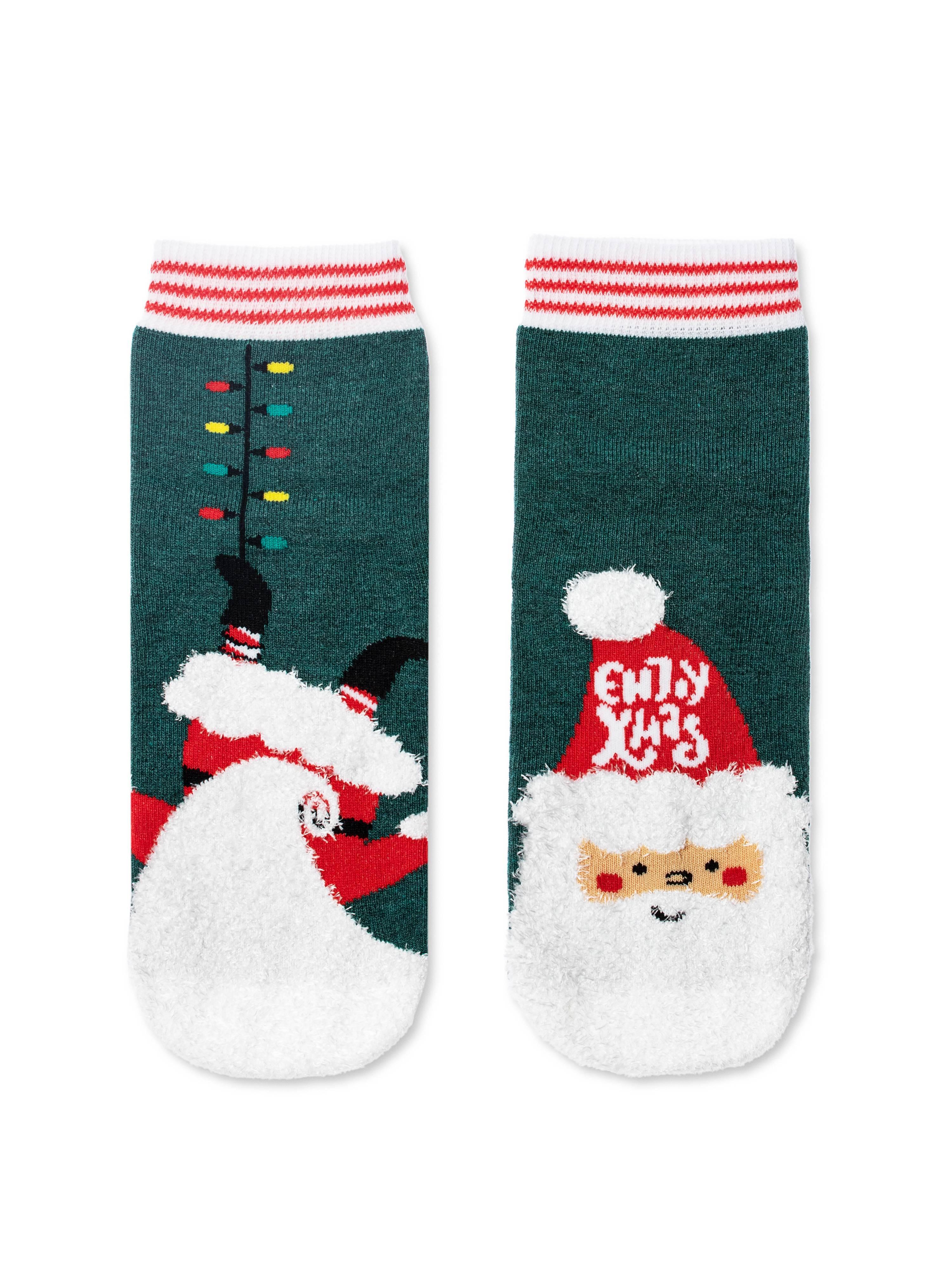 Носки детские ⭐️ Детские новогодние носки с пушистой нитью «Enjoy Xmas» ⭐️