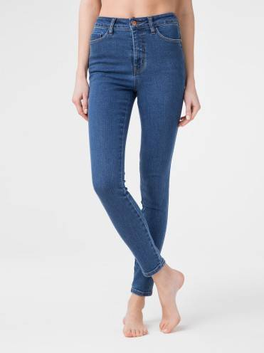 Брюки джинсовые ⭐️ Моделирующие eco-friendly джинсы skinny c супервысокой посадкой CON-174 Lycra® ⭐️