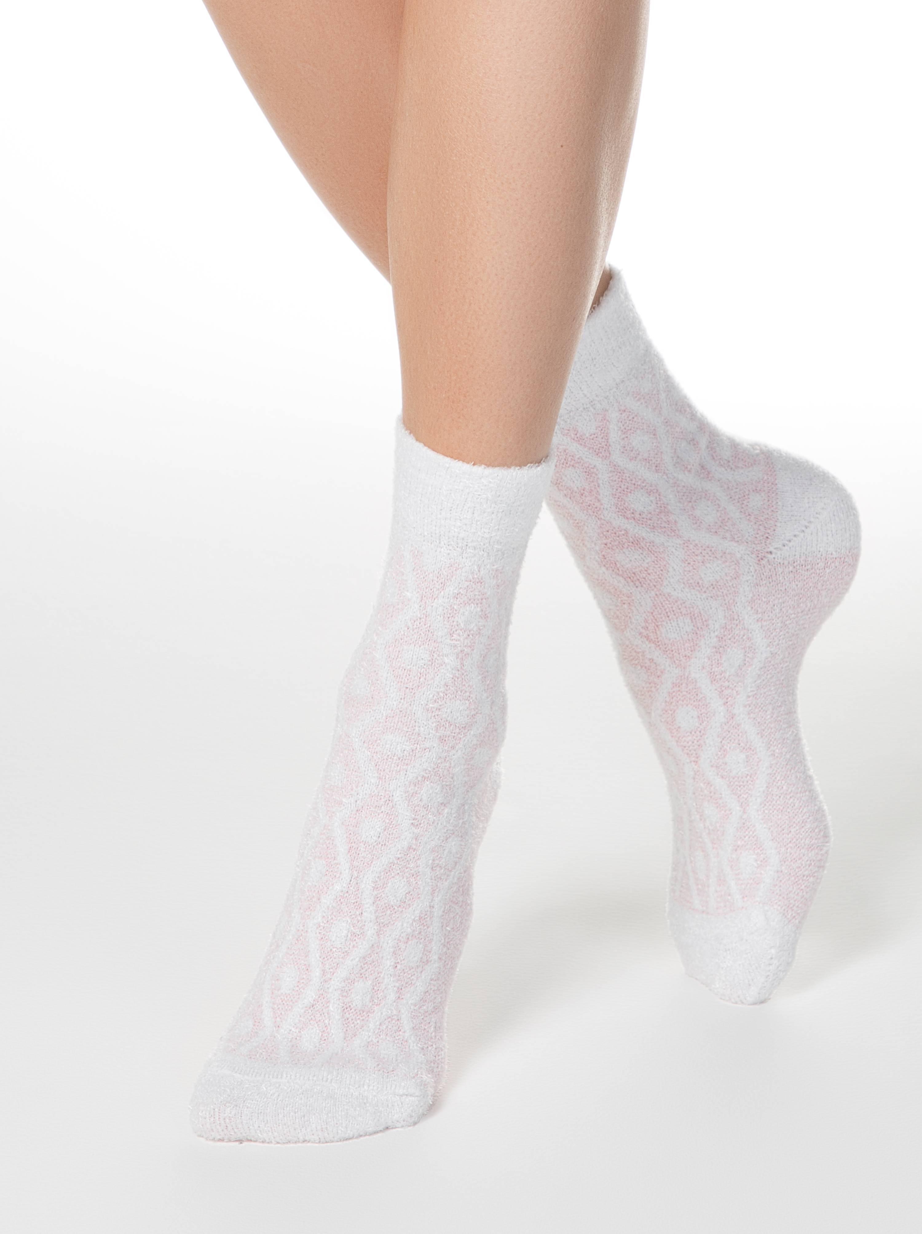 Носки женские ⭐️ Теплые носки COMFORT с пушистым рельефным рисунком ⭐️