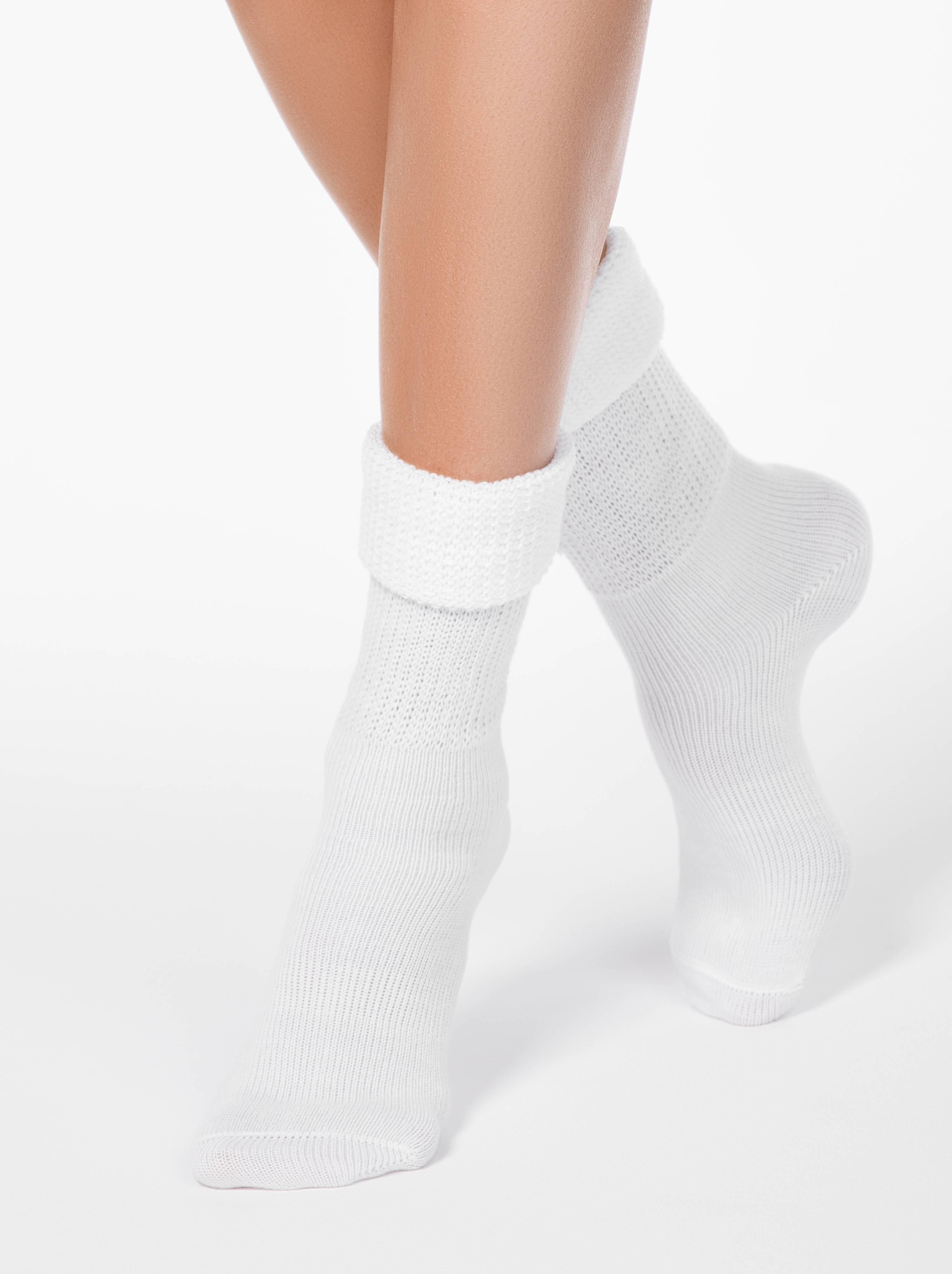 Носки полиамидные женские ⭐️ Теплые носки с отворотом COMFORT ⭐️