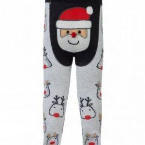 """Колготки детские ⭐️ Новогодние колготки """"Санта-Клаус"""" с пушистой нитью и помпоном ⭐️"""