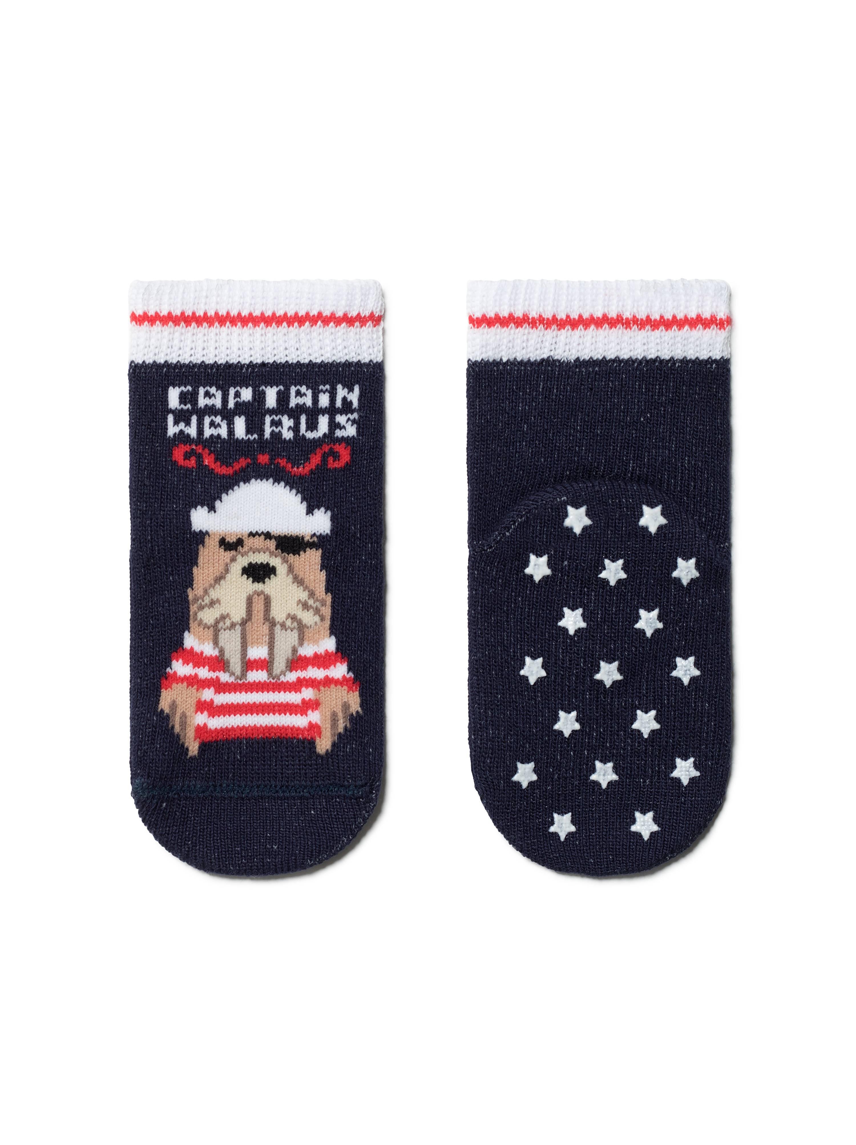Носки детские ⭐️ Антискользящие носки TIP-TOP с рисунком «Морж» ⭐️