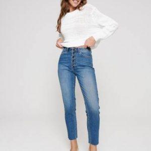 Брюки джинсовые ⭐️ Eco-friendly джинсы Mom Fit с высокой посадкой CON-189 ⭐️