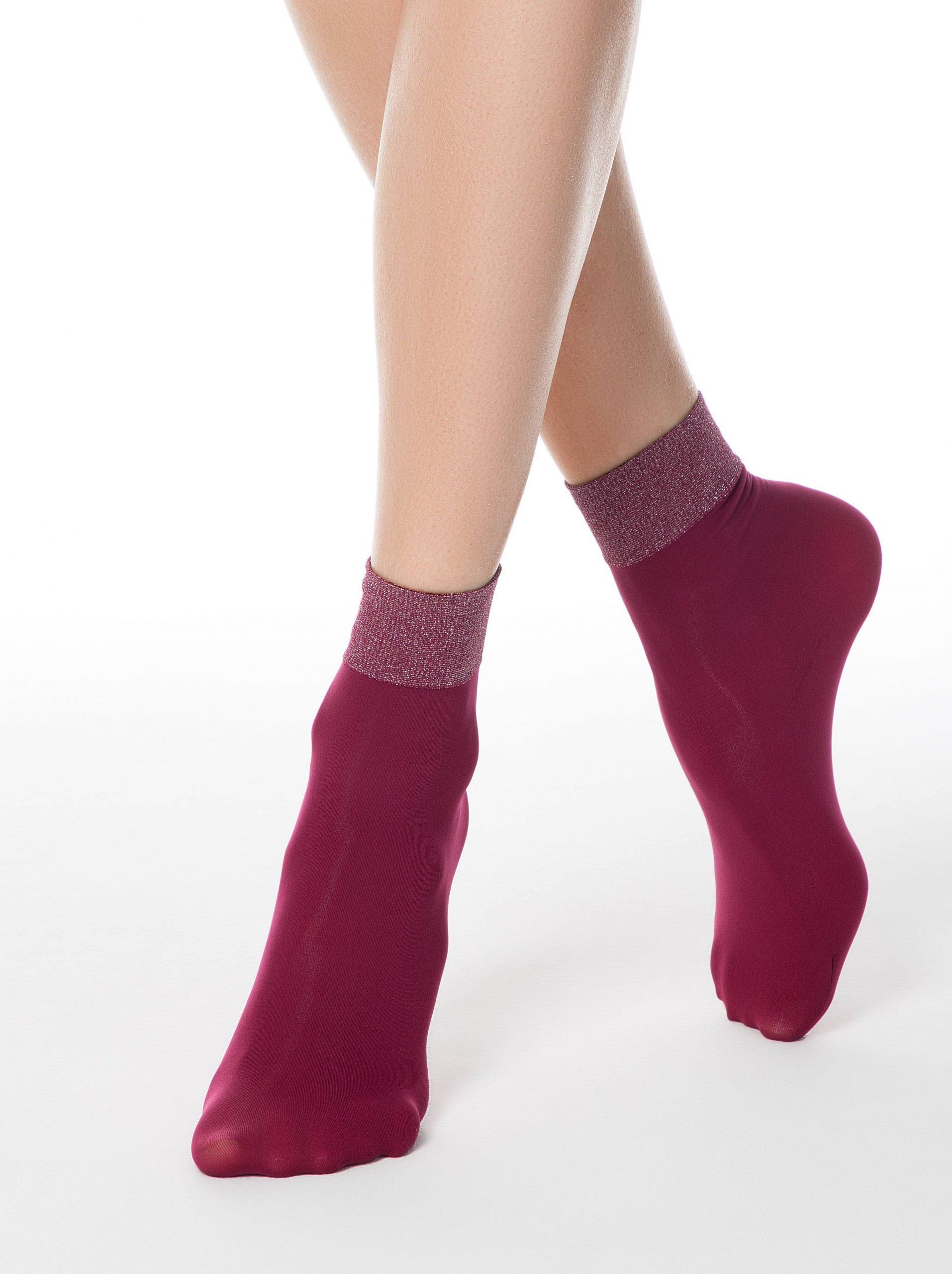 Носки полиамидные женские ⭐️ Носки с широкой резинкой FANTASY с люрексом ⭐️