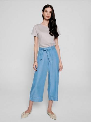 Брюки джинсовые ⭐️ Джинсовые кюлоты из премиального тенсела AK 003 ⭐️