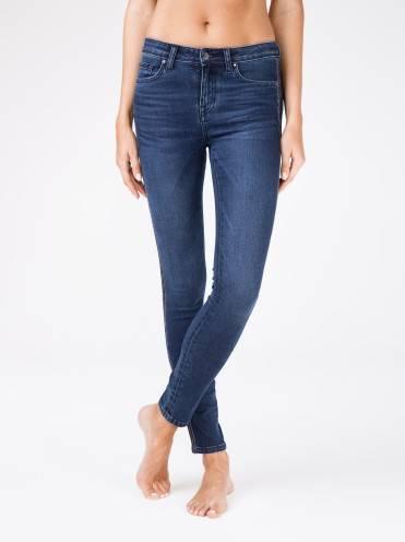 Джинсы женские fashion ⭐️ Ультрамодные моделирующие джинсы с лампасами из люрекса CON-99 ⭐️