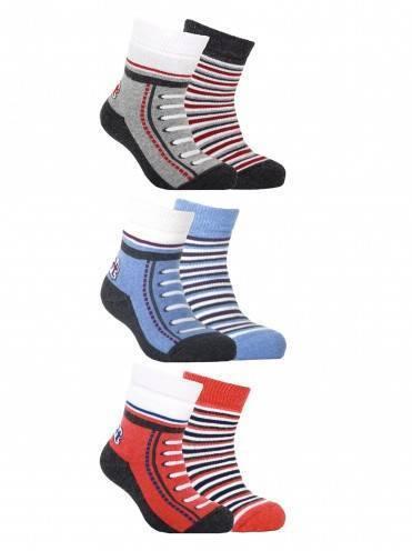 Носки хлопковые детские ⭐️ Носки хлопковые детские SOF-TIKI махровые 2 пары белый серый ⭐️