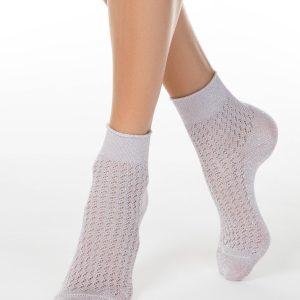 Носки женские ⭐️ Ажурные носки AJOUR из вискозы с люрексом ⭐️