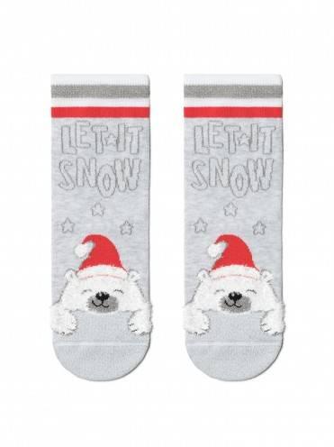 "Носки детские ⭐️ Детские сияющие новогодние носки ""Мишка"" ⭐️"