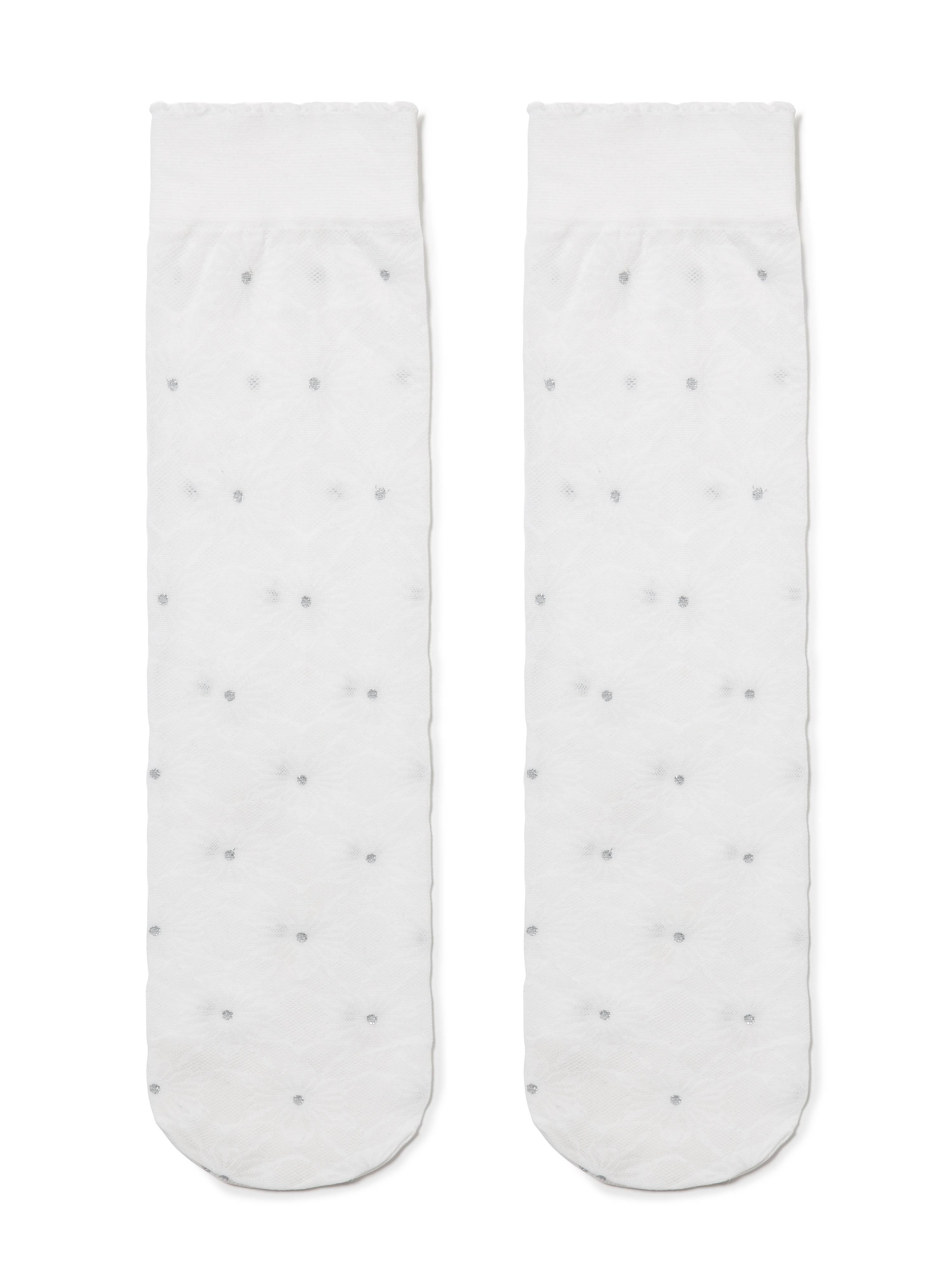 Гольфы для девочек нарядные ⭐️ Гольфы с люрексом и снежинками ©Disney Frozen 20 ⭐️