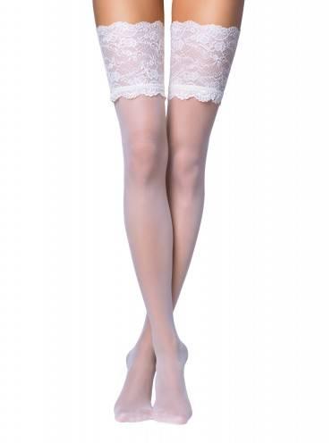 Чулки женские ⭐️ Свадебные чулки с широкой ажурной резинкой GRACE ⭐️