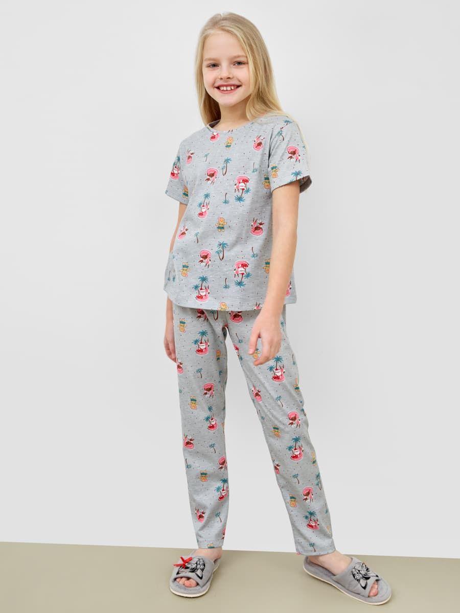 Новогодняя пижама с брюками и футболкой Mark Formelle