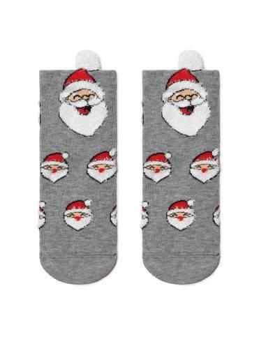"""Носки детские ⭐️ Детские новогодние носки """"Санта-Клаус"""" с пушистой нитью и пикотом ⭐️"""