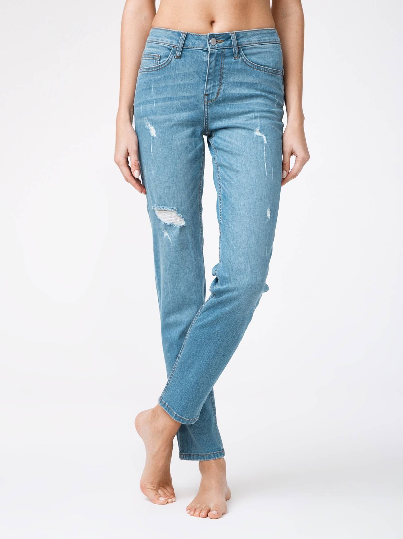 Брюки джинсовые ⭐️ Ультрамодные eco-friendly джинсы с эффектом потертости CON-145 ⭐️