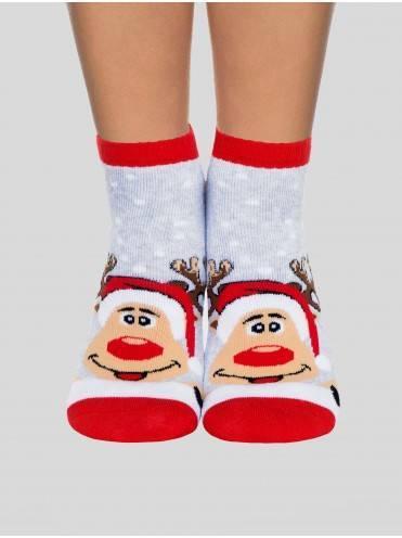 Носки женские ⭐️ Короткие новогодние носки с люрексом ⭐️