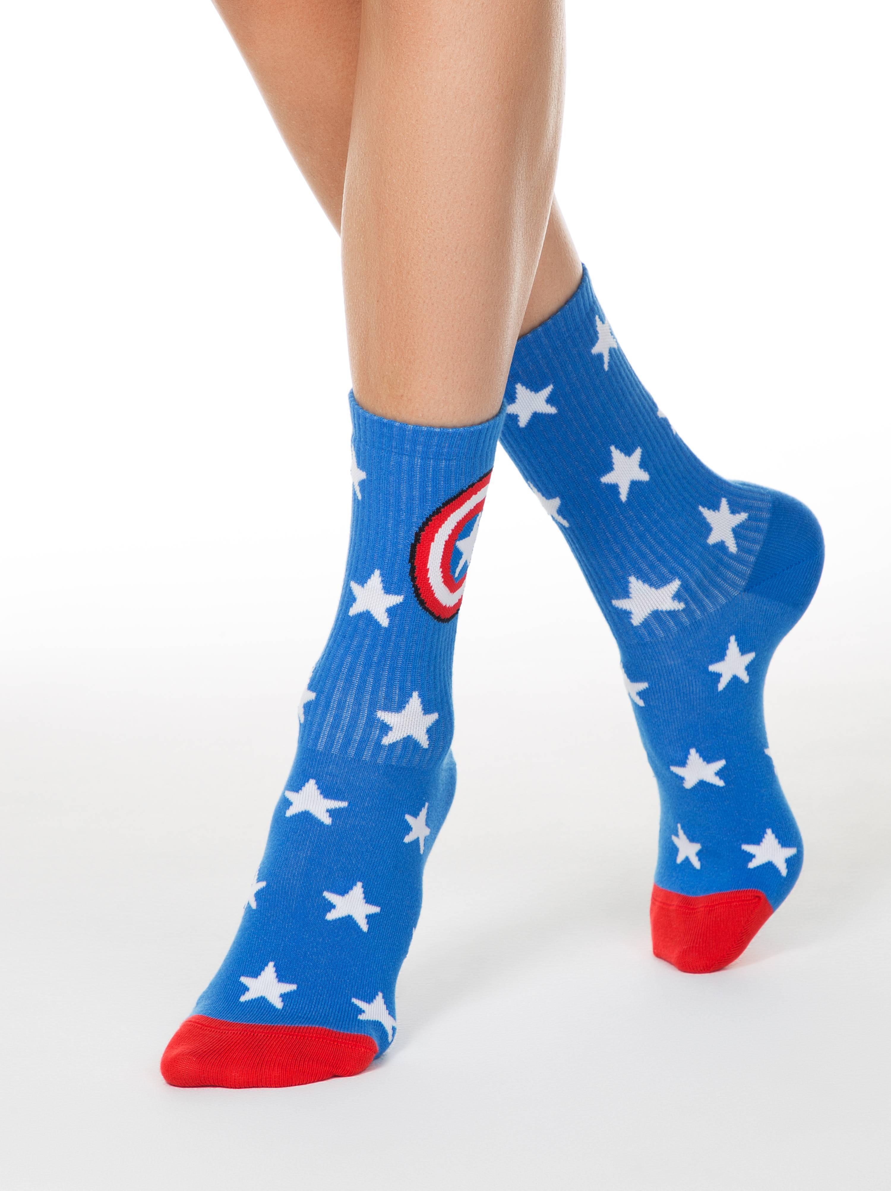 Носки женские ⭐️ Женские удлиненные носки с рисунками ©MARVEL ⭐️
