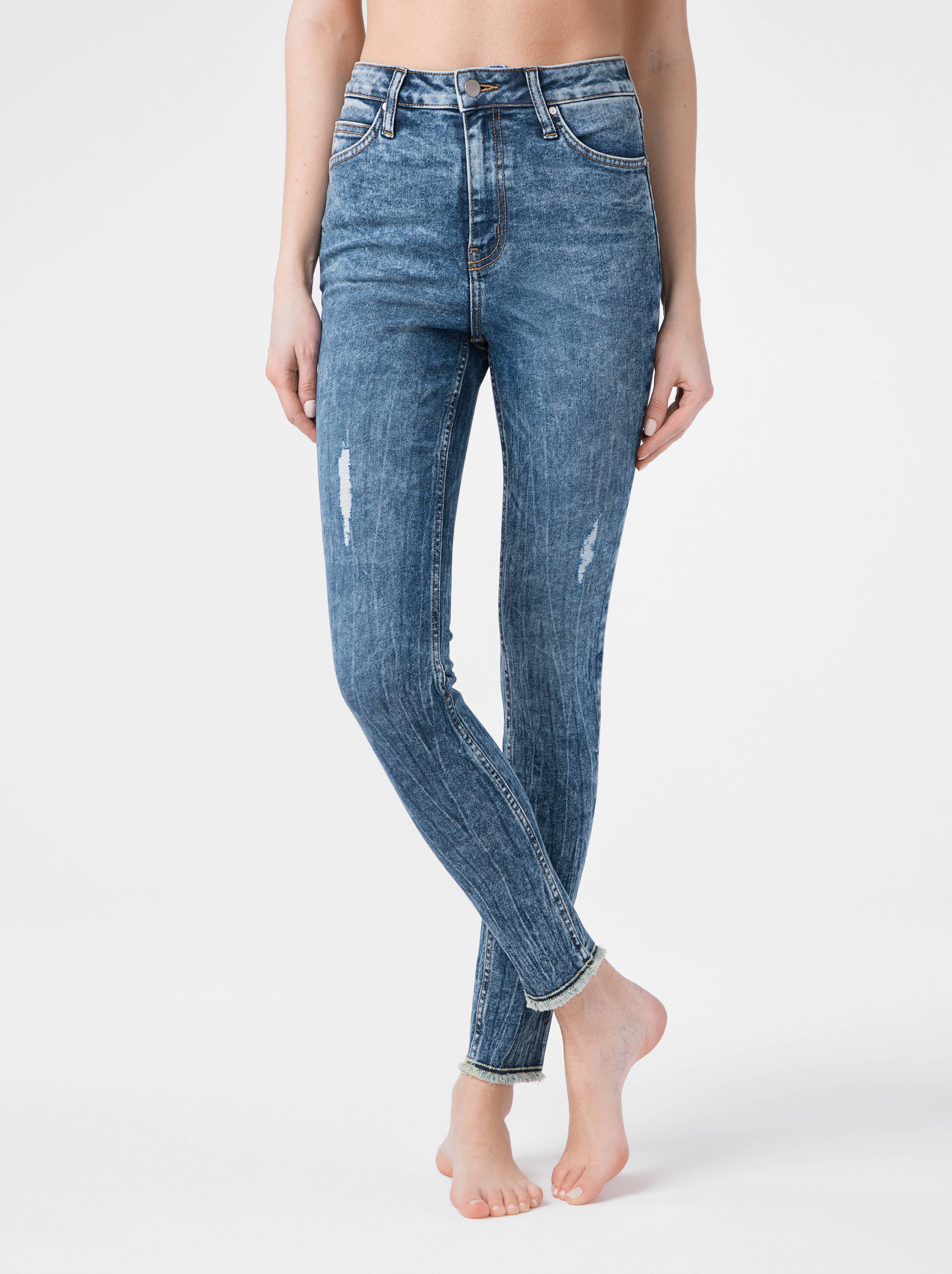 Брюки джинсовые ⭐️ Моделирующие eco-friendly джинсы skinny c супервысокой посадкой CON-176 Lycra® ⭐️