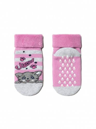 Носки хлопковые детские ⭐️ Носки с антискользящей стопой и с отворотом SOF-TIKI ⭐️