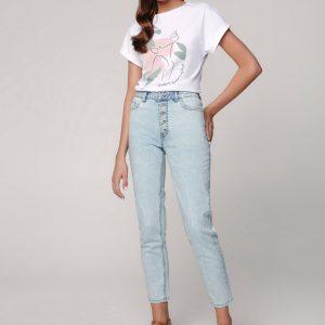 Брюки джинсовые ⭐️ Джинсы Mom Fit CON-322 с высокой посадкой ⭐️