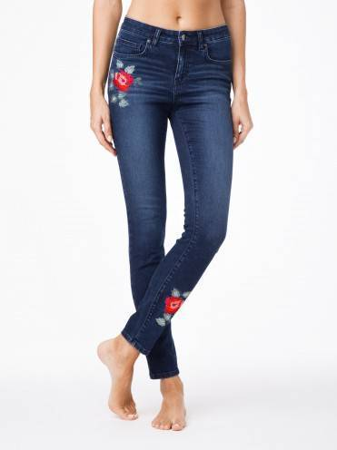 Джинсы женские fashion ⭐️ Ультрамодные джинсы с вышивкой CON-53 ⭐️