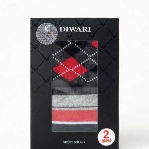 Носки мужские ⭐️ Хлопковые носки DIWARI в фирменной коробке (2 пары) ⭐️