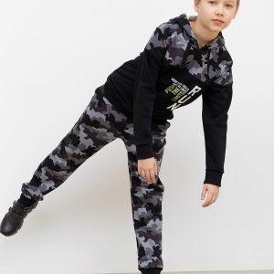 Хлопковое худи с камуфляжными деталями Mark Formelle