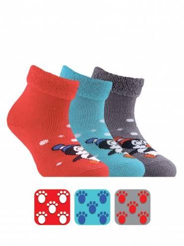 Носки хлопковые детские ⭐️ Махровые носки SOF-TIKI с отворотом и антискользящей стопой ⭐️