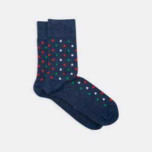 Высокие носки с елочками трех цветов Mark Formelle