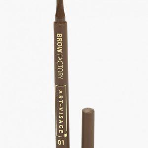 Карандаш для бровей Art-Visage Маркер д/бровей Brow Factory 01 латте