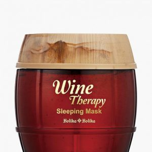 Маска для лица Holika Holika желе ночная Wine Therapy красное вино