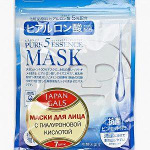 Набор масок для лица Japan Gals Маска с гиалуроновой кислотой Pure5 Essential 7 шт